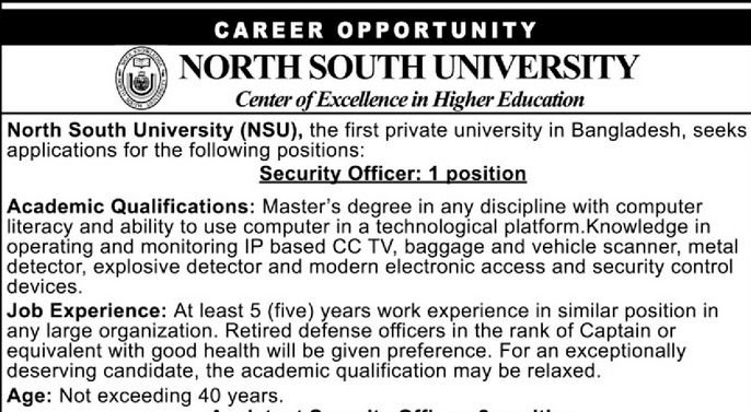 North South University NSU Job Circular 2020 - Top Circular BD